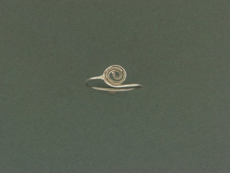 Swirl Skinny Ring