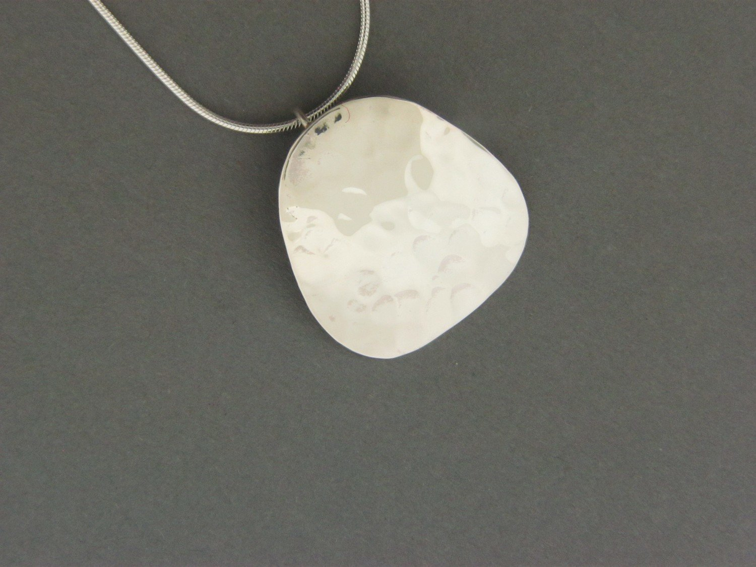 Hammered Plate Pendant