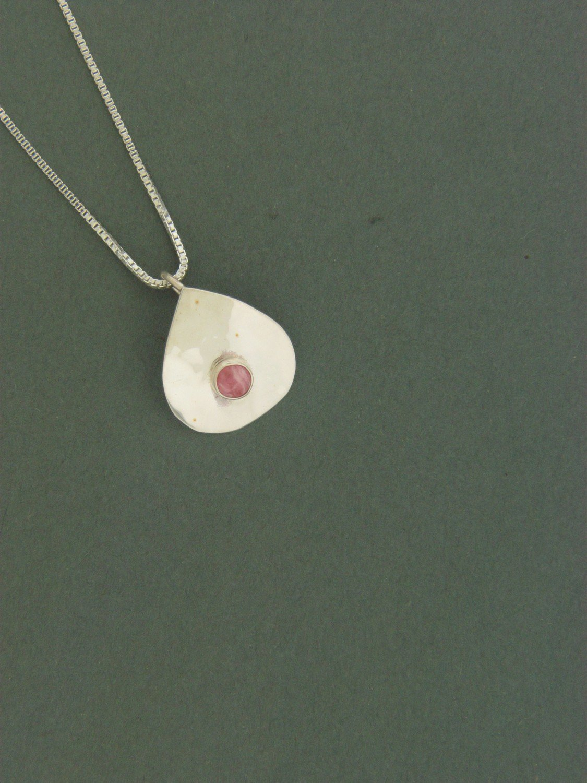 Small Teardrop Plate  w/  Stone Pendant