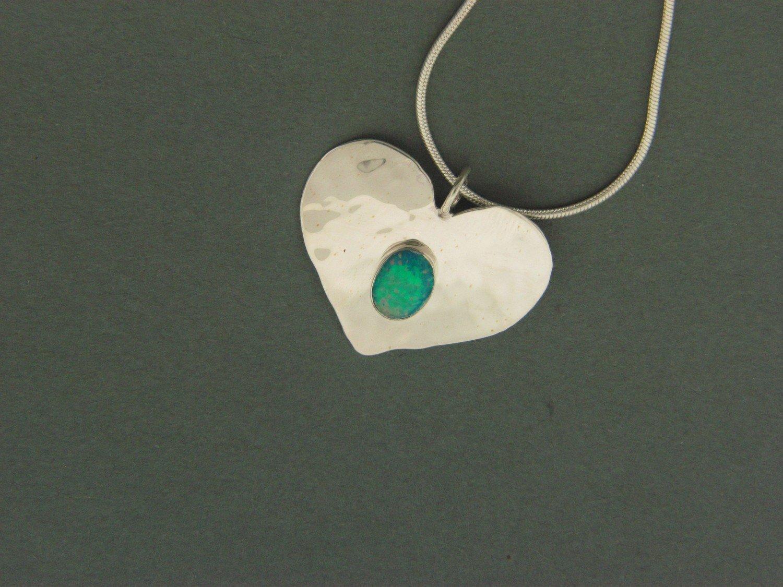 Large Heart  w/   Stone Pendant