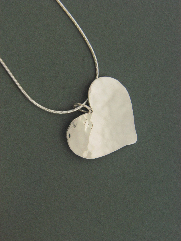 Large Plate Heart Pendant