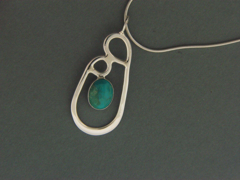 Double Loop w/ Stone Pendant