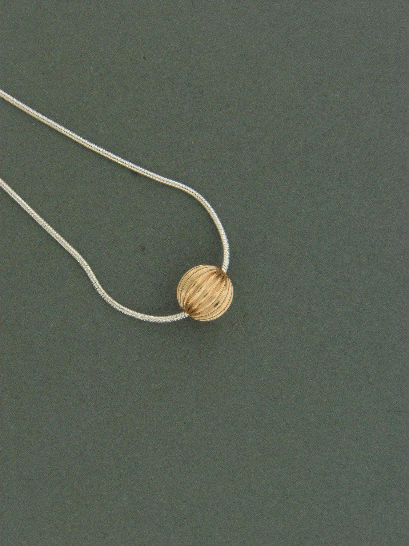 Single Gold Filled Fancy Bead Pendant