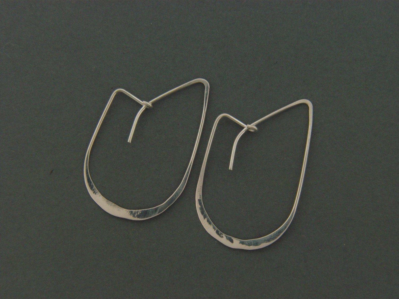 """Small """"J"""" Hook Earrings"""