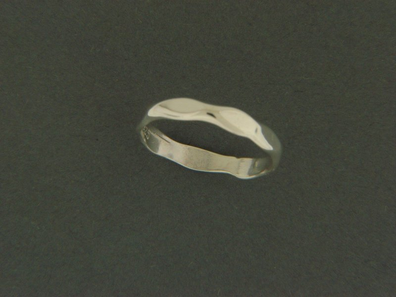 Light Hammered Ring