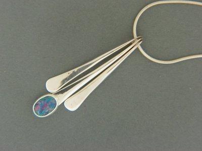 Triple Stick w/ Stone Pendant