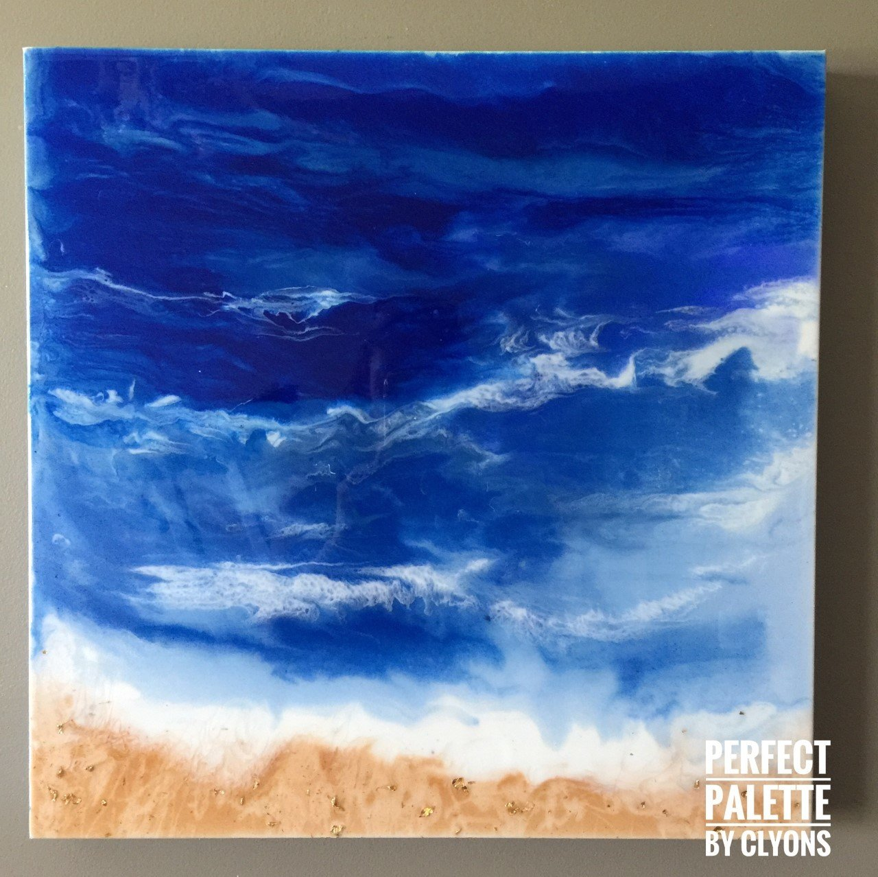 Ocean  20x20 Resin, Acrylic