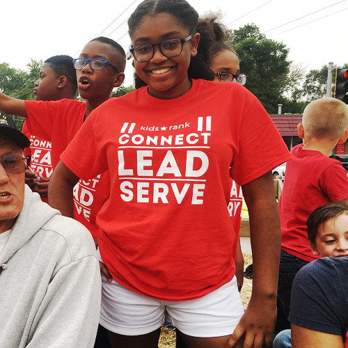 CONNECT, LEAD SERVE Tee (Youth)