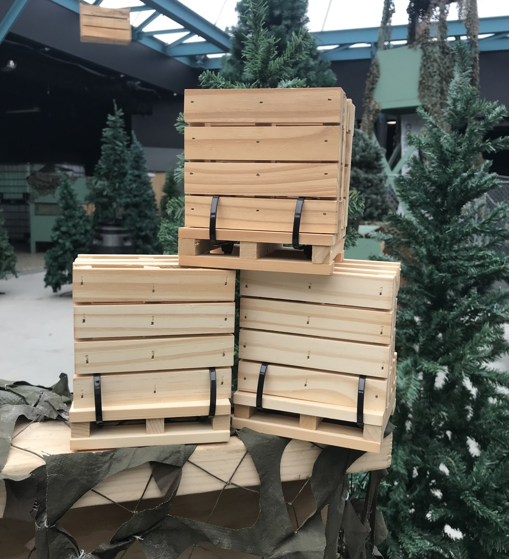 Wooden Pallet Coaster 4 pk