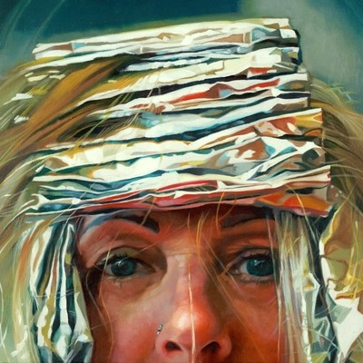 """Barbarella"", 16x16 (image size 12x12), Giclée Fine Art Print"