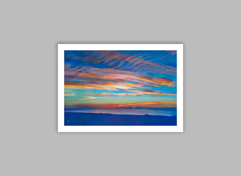 """Sunset at Mayflower Beach."" 22x16 (image size 18x12), Giclée Fine Art Print"