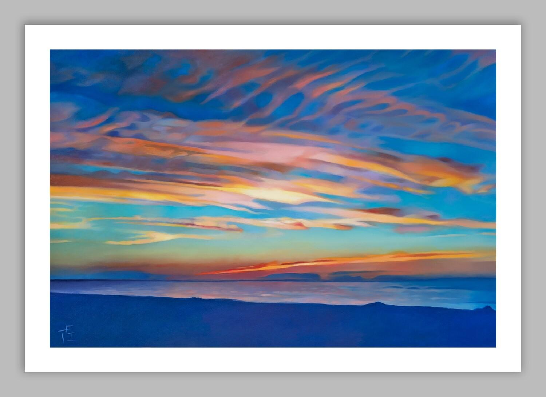 """Sunset at Mayflower Beach."" 28x40 (image size 24x36), Giclée Fine Art Print"