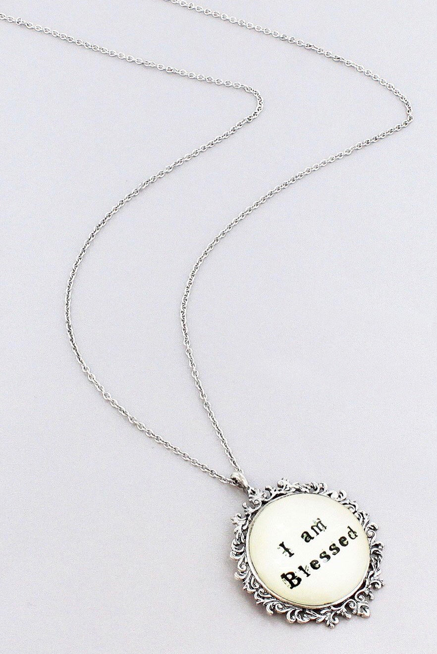 """I Am Blessed"" Necklace"