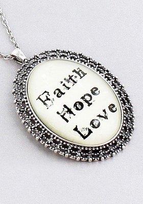 Faith, Hope, Love Necklace