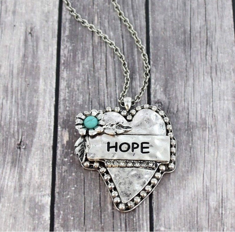 'HOPE' NECKLACE Silver