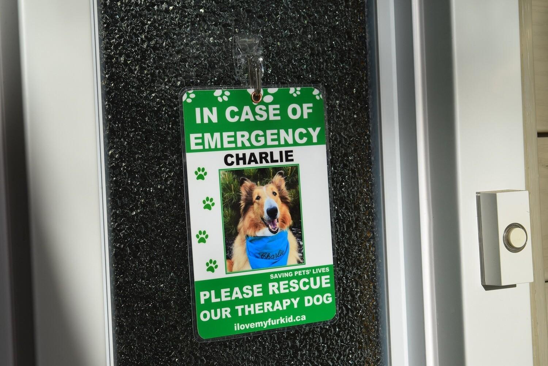 Emergency Pet Sign (One photo)