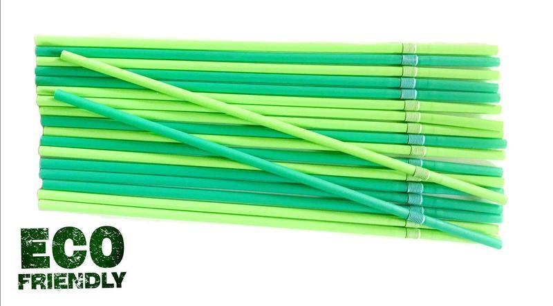 Trinkhalme BIO PLA grün