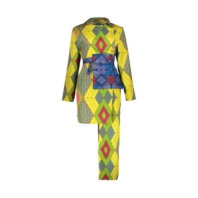GEOMETRIC SHAPED DRESS