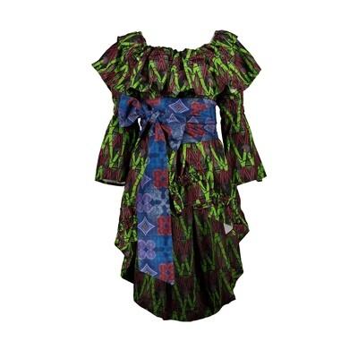 WARRIOR PRINT DRESS