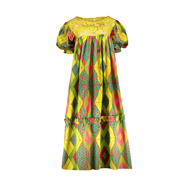 WEST/EAST YELLOW PRINT DRESS