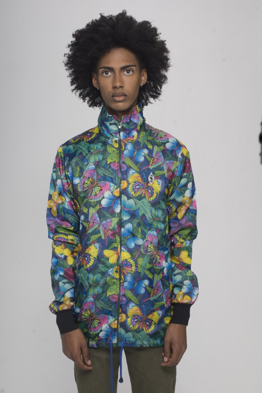 Flying Flower Windbreaker Jacket
