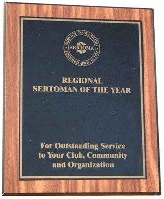 Region Sertoman of the Year Plaque