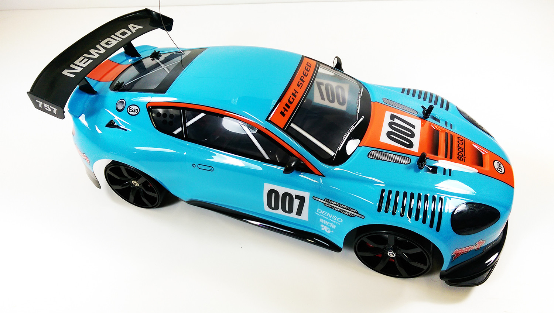 1 10 Radio Control Rc 4wd Drift Replica Aston Martin Dbr9 007 James Bond Style