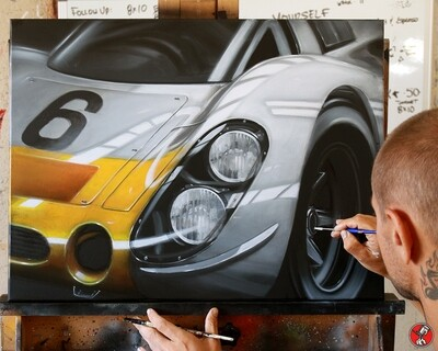 """Porsche 908"" Original Painting"