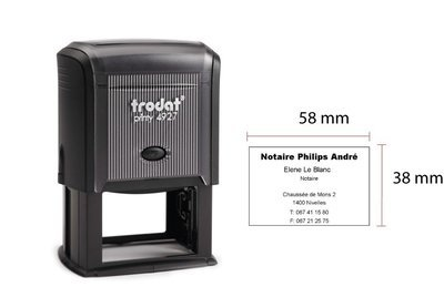 TRODAT 4927 - TESTO 9 RIGHE - MM 60x40