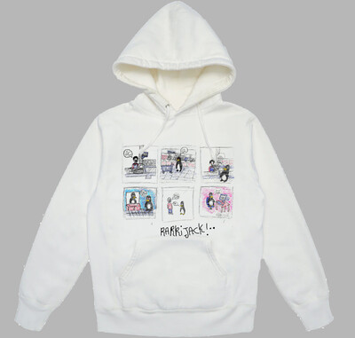 Comic hoodie white