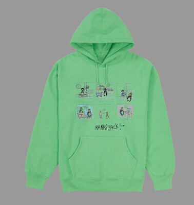 Comic hoodie apple green