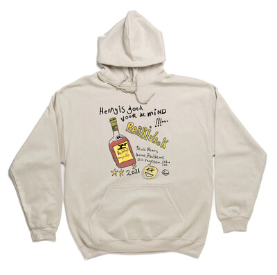 Henney fles hoodie zand