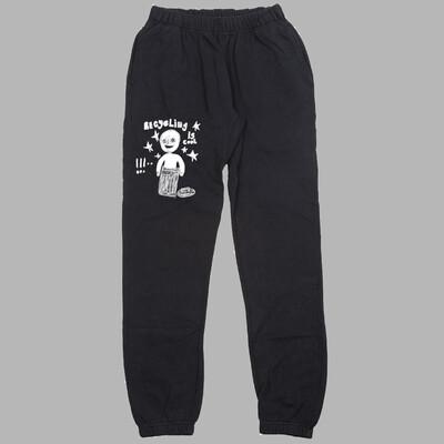 Recycle sweatpants black