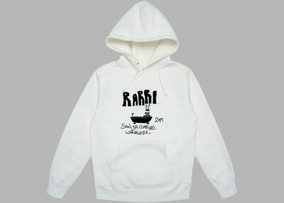 Rabbit in Bath hoodie white and black