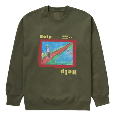Help sweater olive green