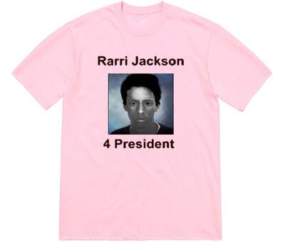 Rarri for president 2021 pink tee