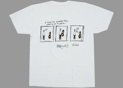 Pinguin comic tee white