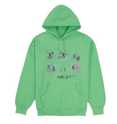 Comic hoodie apple green