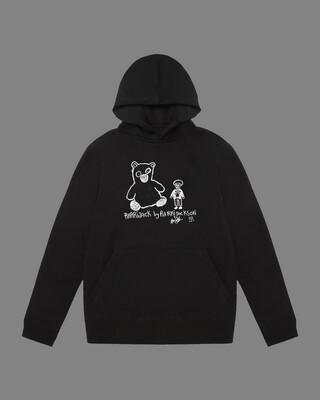 Polo bear hoodie black