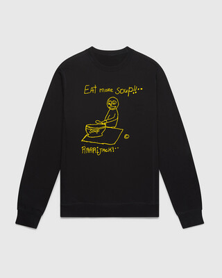 Eat more soup sweater black
