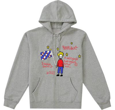 Zip up hoodie grey