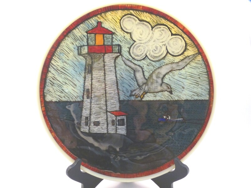 Peggy's Cove Lighthouse with Blue Cape Islander