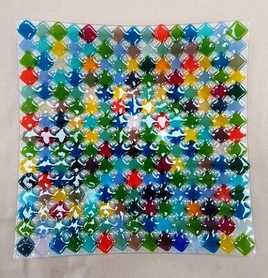 Rainbow Fused Platter
