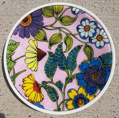 Cone Flower & Friends Rimless Plate
