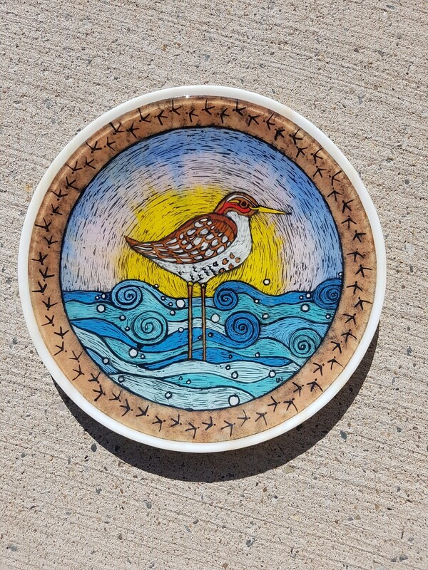 Sandpiper in the Waves, plate