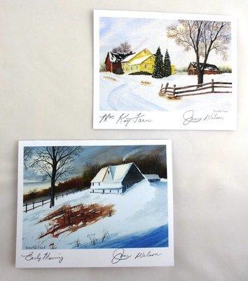 Winter Scene Note Card Set