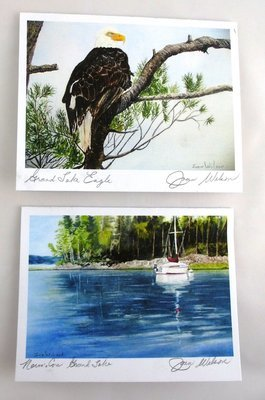 Lakeside Scenes Note Card Set