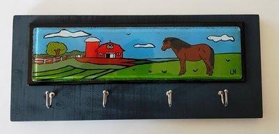 Pony & Barn Key Holder