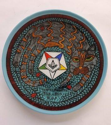 Custom Cat Plate
