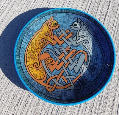 Celtic Cats Pasta Bowl